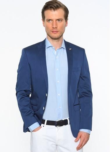 Comienzo Klasik Ceket Mavi